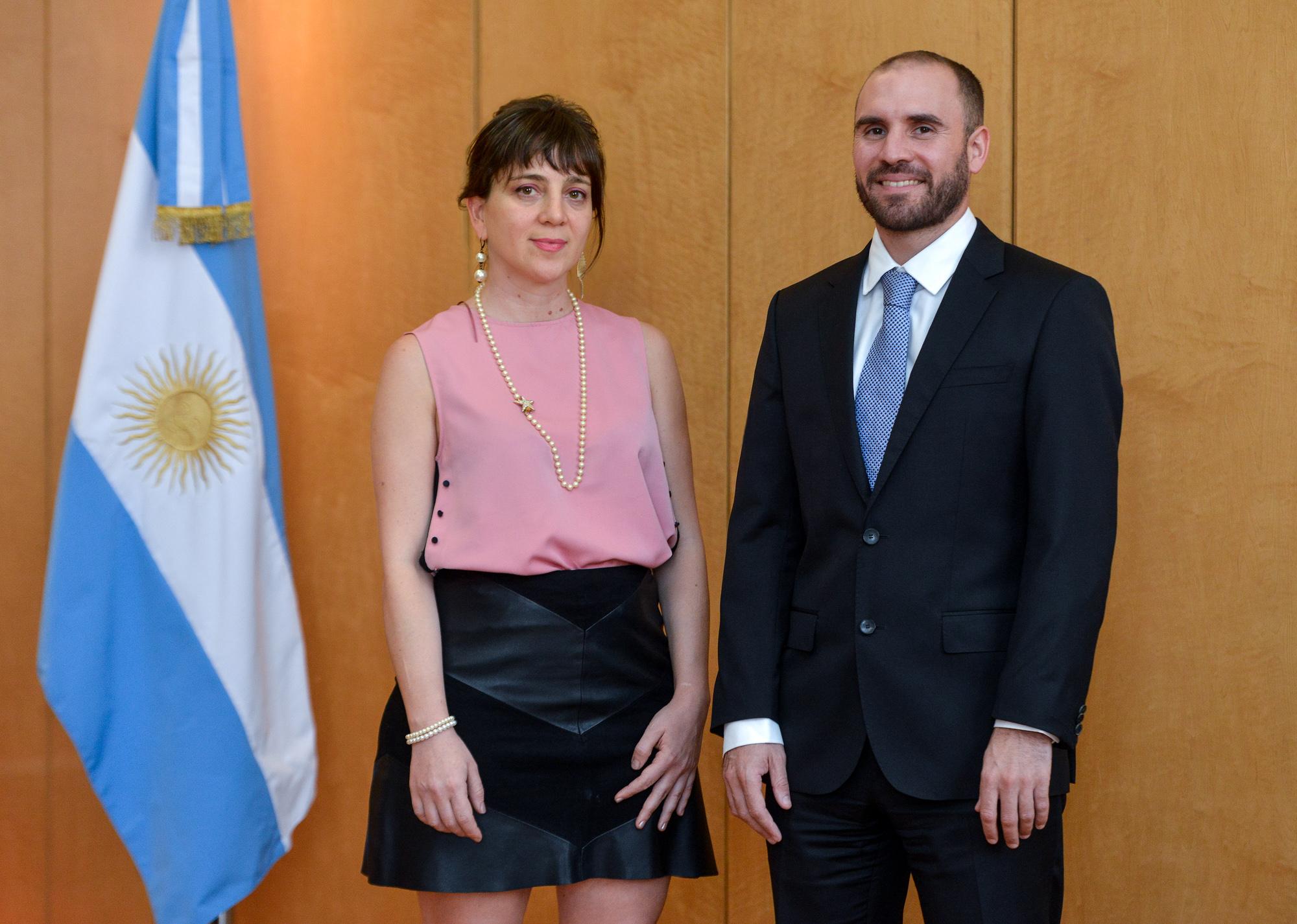 Mercedes D'Alessandro y Martín Guzmán