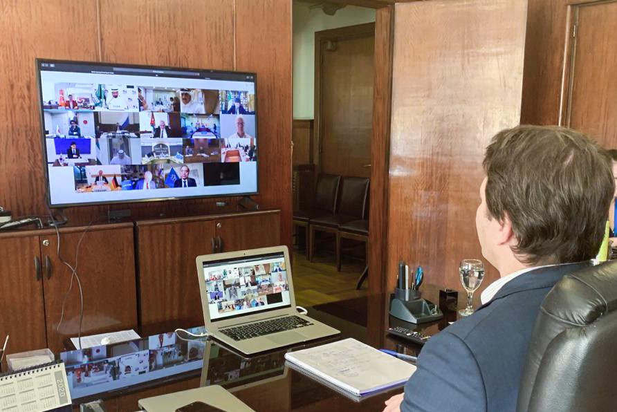 19.04.20 M Sabignoso reunión videoconferencia Ministerios de salud G20