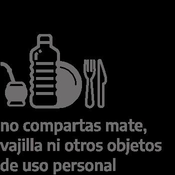 No compartas mate, vajilla ni otros objetos de uso personal