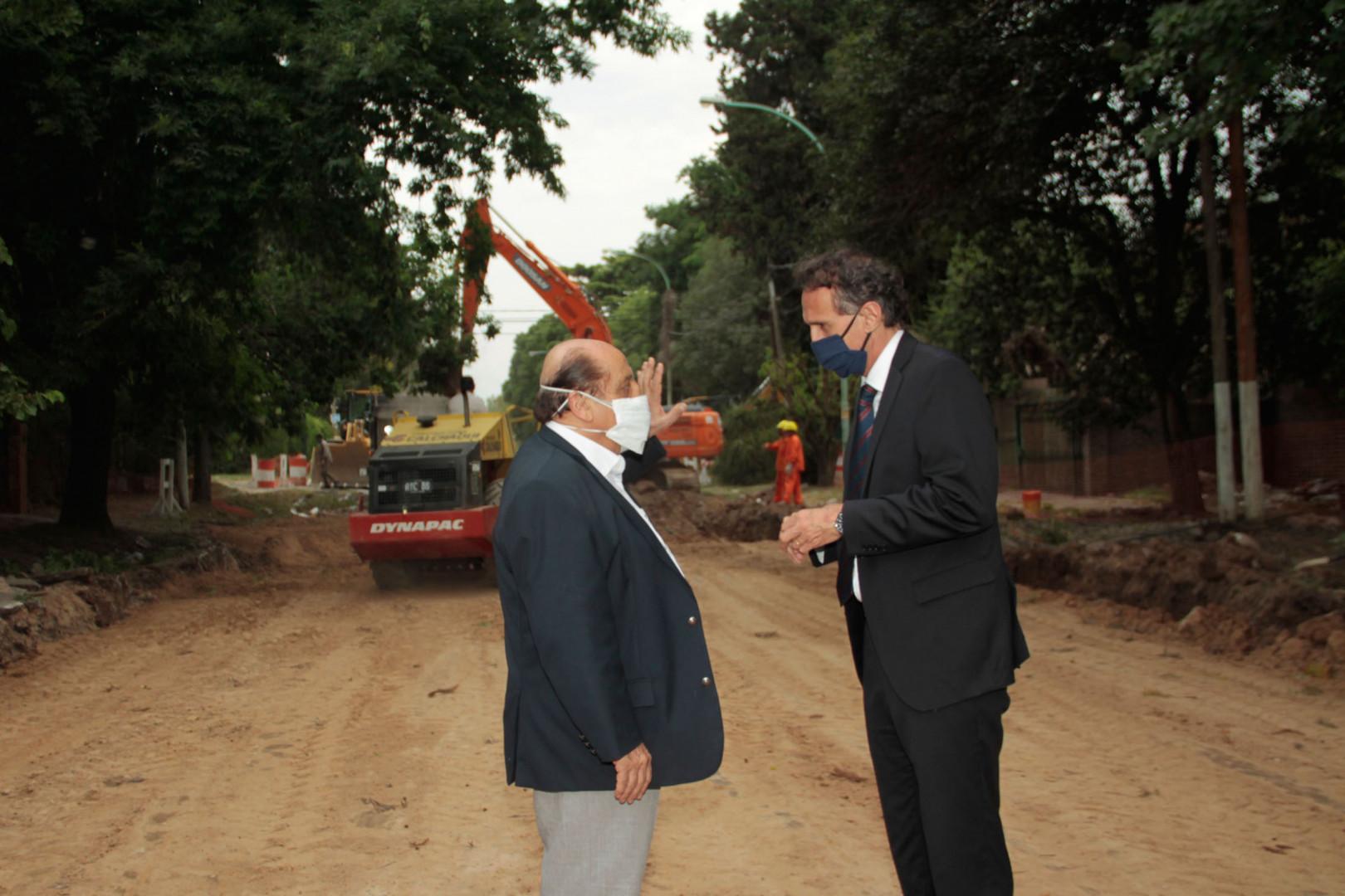 Katopodis recorrió obras del Plan Argentina Hace en Berazategui