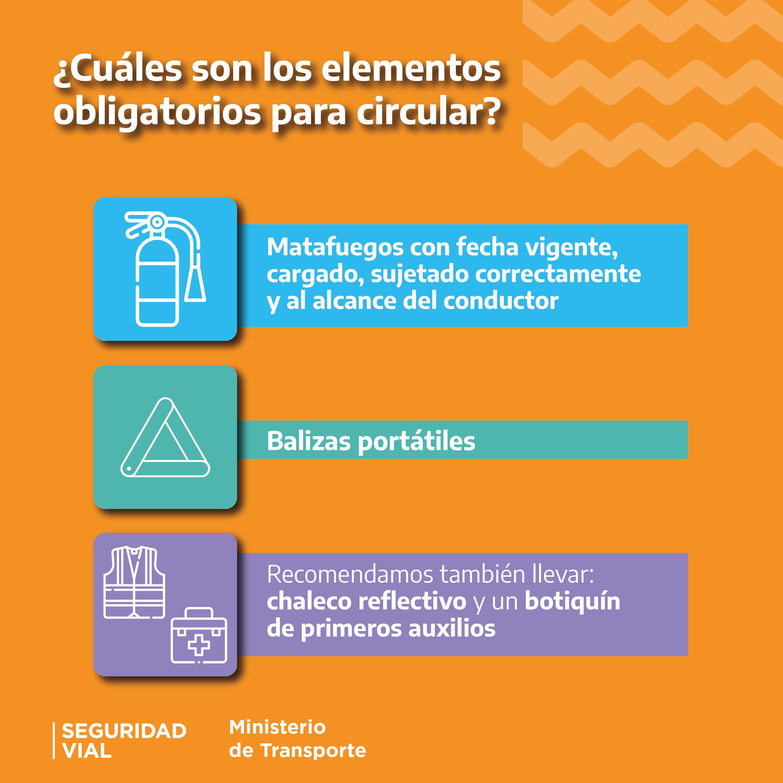 ¿Cuáles son los elementos obligatorios para circular?