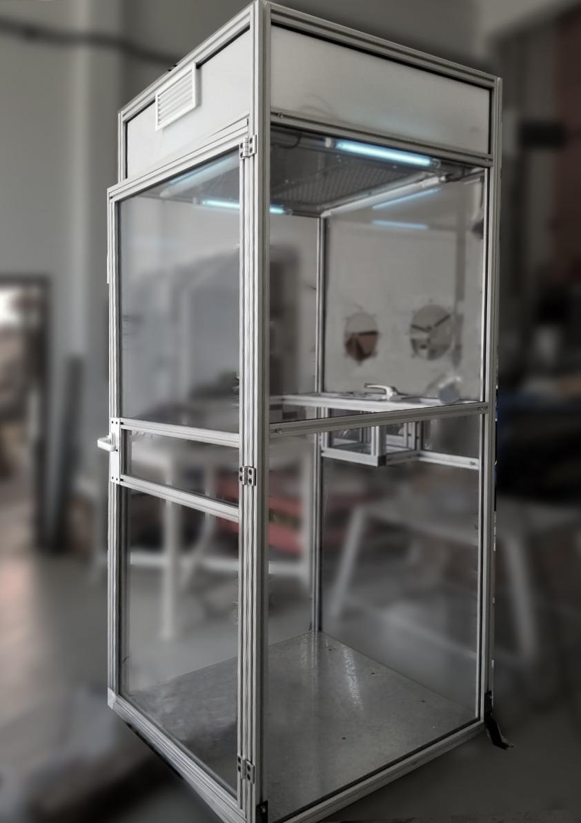 Avanza el diseño de gabinetes bioseguros para el personal sanitario