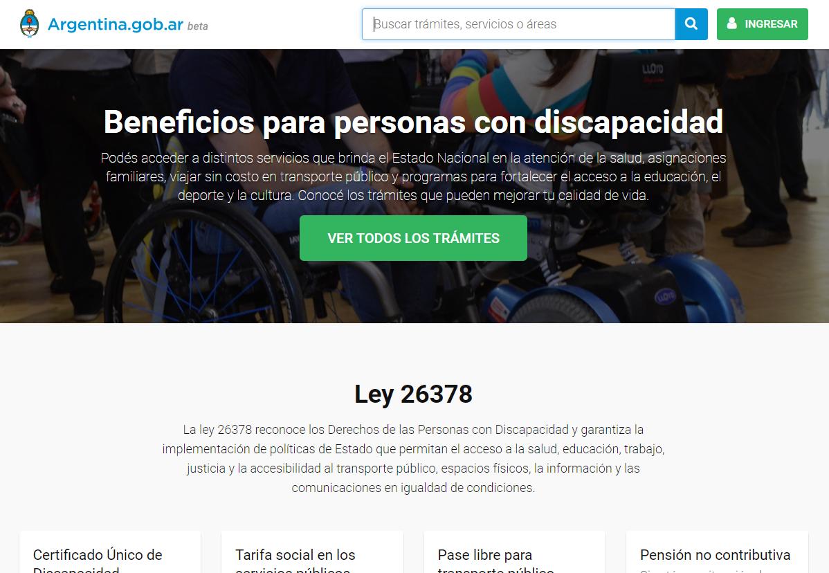 Web de Discapacidad