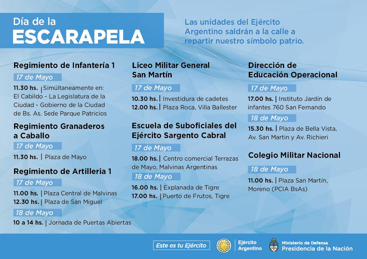 El Ejército En El Día De La Escarapela Argentina Gob Ar