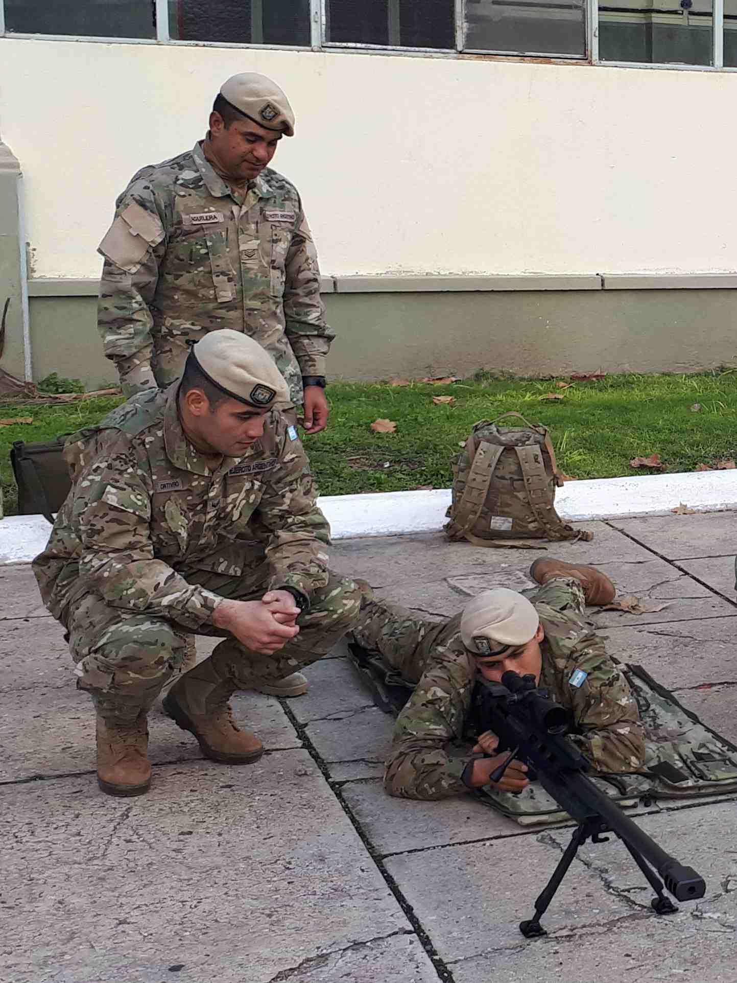 La primer parte del curso para tirador pesado se dicta en la Escuela de Infantería.