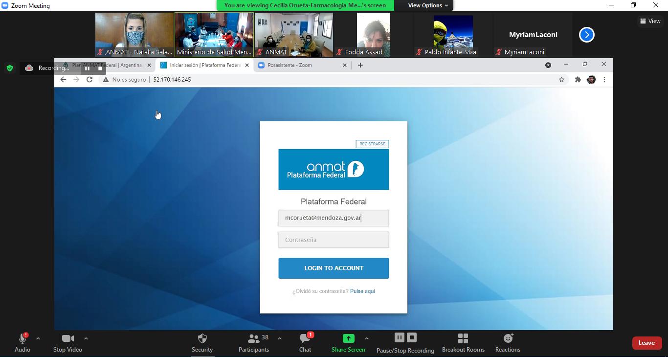 Print de pantalla de la plataforma