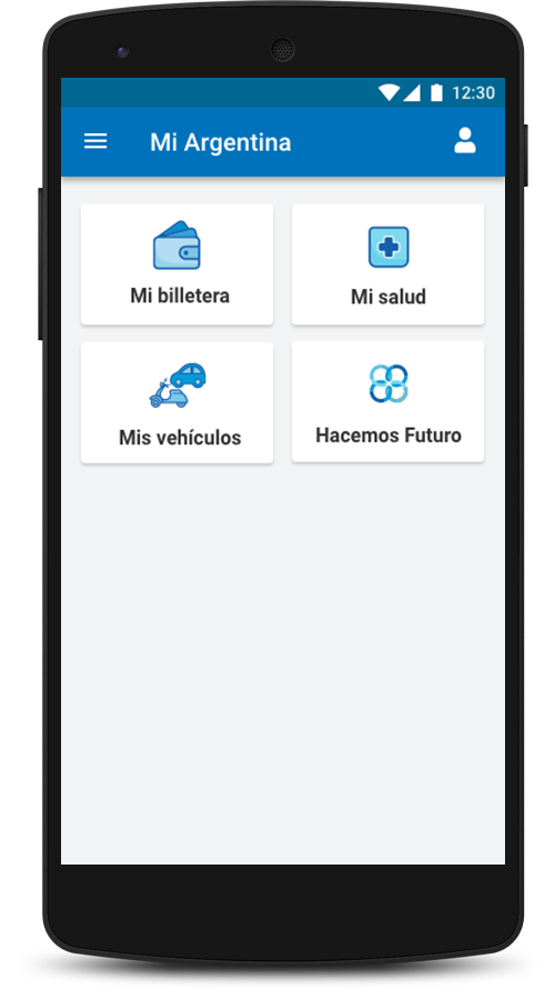Apretá el botón Hacemos Futuro para acceder a tu información.