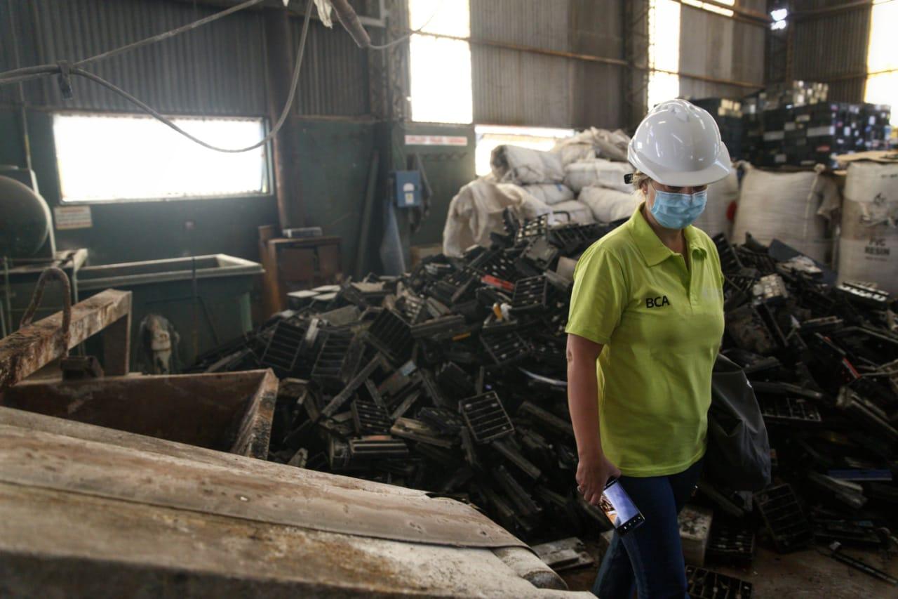 La Brigada de Control Ambiental inspeccionó una planta de reciclado de baterías de plomo-ácido en La Pampa