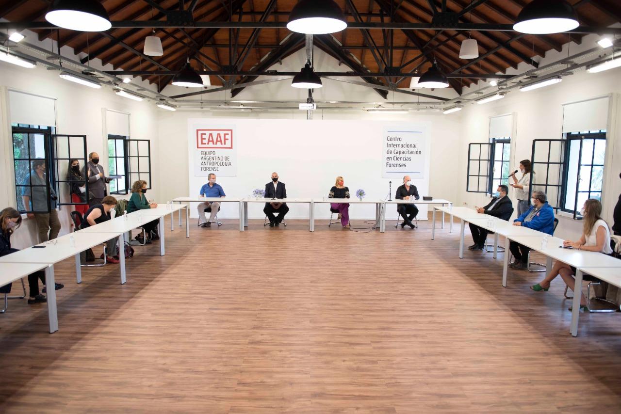 Losardo participó de la inauguración del edificio del Centro Internacional de Capacitación en Ciencias Forenses del EAAF