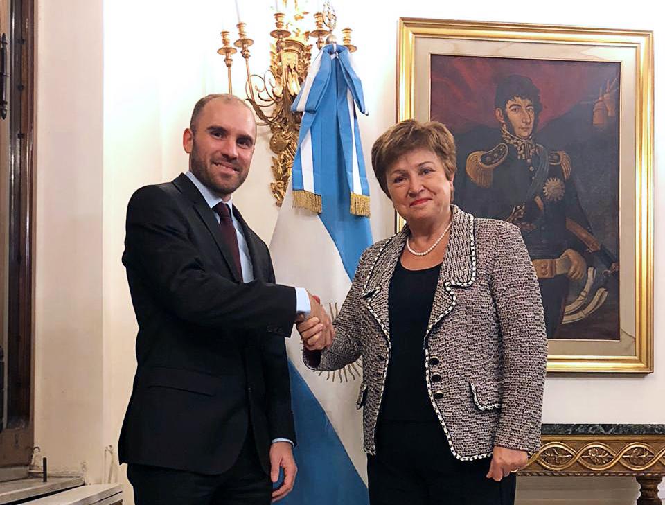 El ministro Martín Guzmán se reunió con la titular del FMI Kristalina  Georgieva   Argentina.gob.ar