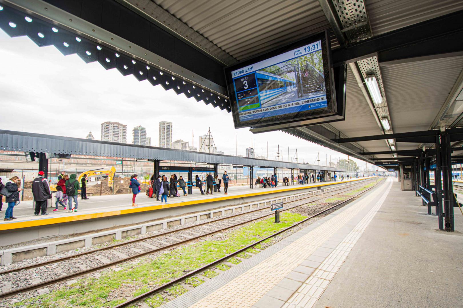Resultado de imagen para estación de trenes de Retiro del San Martín recupera su esplendor
