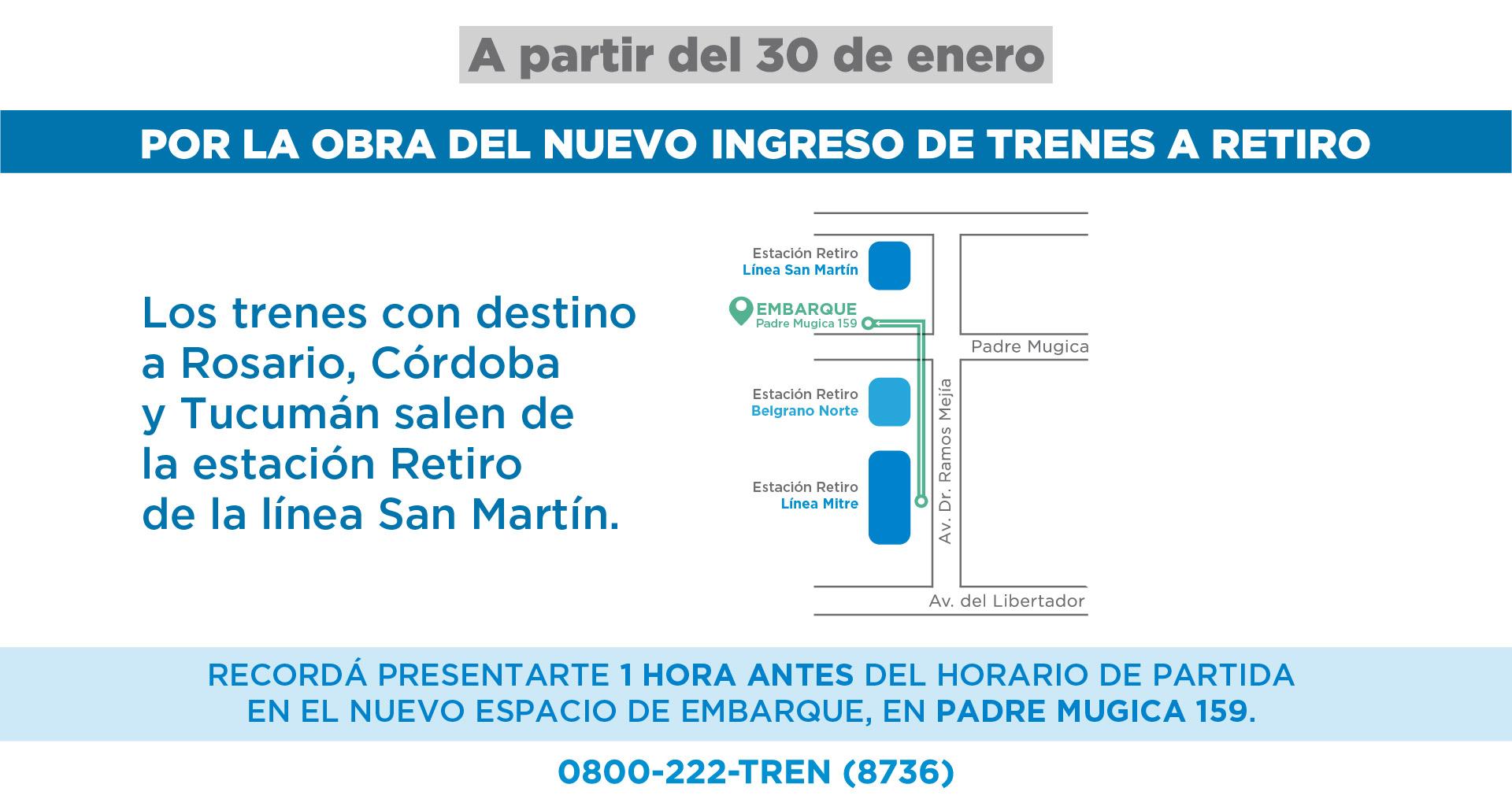 Servicios de larga distancia a Córdoba, Tucumán y Rosario
